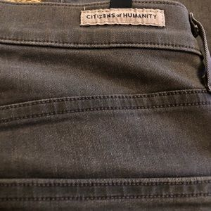 Size 27 high rise gray citizen of humanity skinny